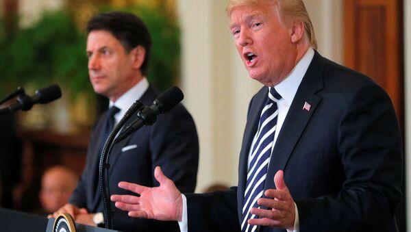 Beyaz Saray'da Trump-Conte ortak basın toplantısı - Sputnik Türkiye