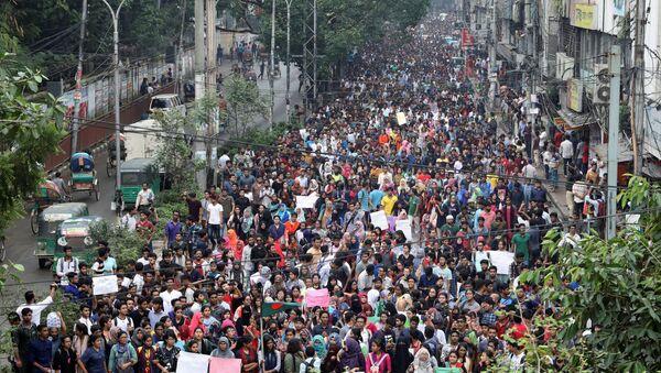 Bangladeş'te protestolar - Sputnik Türkiye