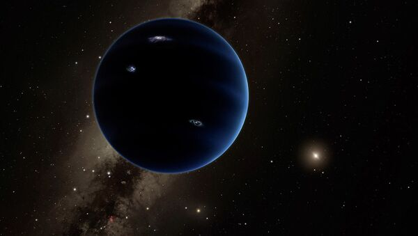 This is a distant view from Planet Nine back towards the sun. The object is thought to be gaseous, similar to Uranus and Neptune. - Sputnik Türkiye