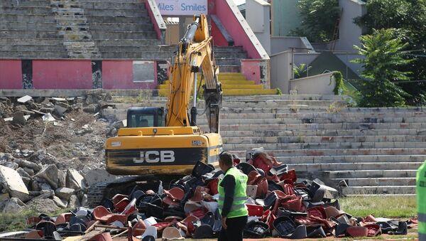 Eskişehir'de millet bahçesi için stadın yıkımına başlandı - Sputnik Türkiye