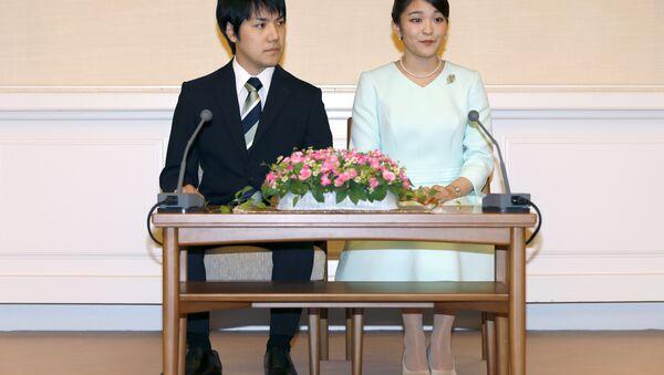 Japonya Prensesi Mako ve nişanlısı Kei Komuro - Sputnik Türkiye