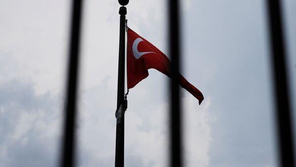 Wahington'daki Türkiye Büyükelçiliği- Türk bayrağı - Sputnik Türkiye