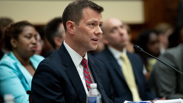 Deputy Assistant FBI Director Peter Strzok testifies on FBI and Department of Justice actions during the 2016 Presidential election during a House Joint committee hearing on Capitol Hill in Washington, DC, July 12, 2018. - Sputnik Türkiye