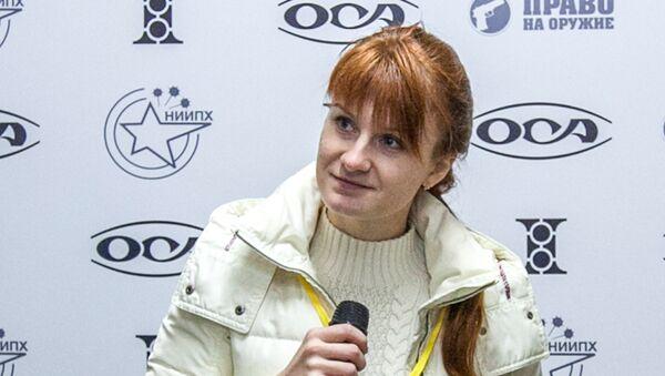 Mariia Butina, leader of a pro-gun organization, speaks on October 8, 2013 during a press conference in Moscow - Sputnik Türkiye