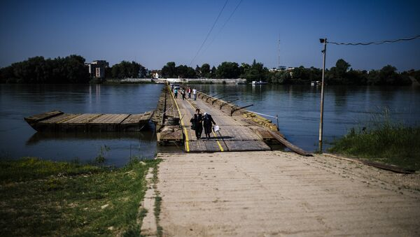Bulgaristan'da Tuna ırmağı üzerindeki bir köprü - Sputnik Türkiye