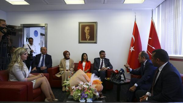 AK Parti heyeti, CHP ziyareti - Sputnik Türkiye