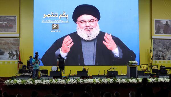 Lübnan Hizbullahı lideri Hasan Nasrallah - Sputnik Türkiye