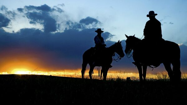 Cowboy silhouette - Sputnik Türkiye