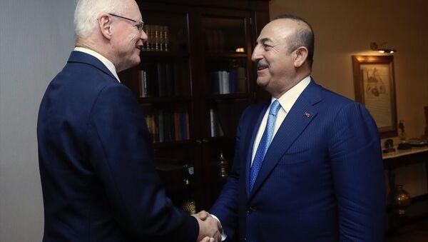 Dışişleri Bakanı Mevlüt Çavuşoğlu, ABD Dışişleri Bakanı Mike Pompeo'nun Suriye'yle Angajmandan Sorumlu Özel Temsilcisi James Jeffrey'i kabul etti. - Sputnik Türkiye