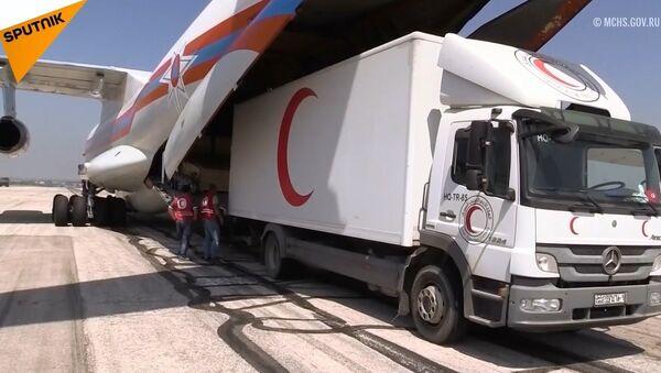 Rusya'dan Suriye'ye 34 ton insani yardım - Sputnik Türkiye