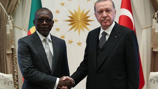 Erdoğan, Benin Cumhurbaşkanı Talon ile bir araya geldi - Sputnik Türkiye