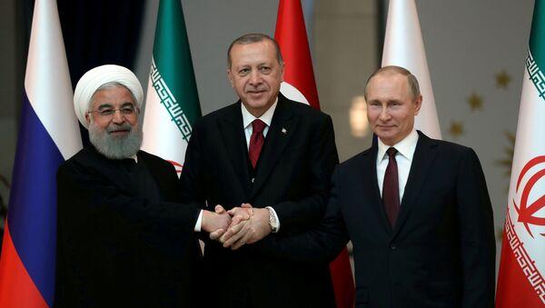 Ruhani, Erdoğan ve Putin - Sputnik Türkiye