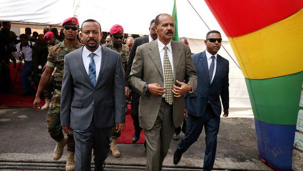 Eritre Devlet Başkanı Isaias Afwerki-Etiyopya Başbakanı Abiy Ahmed - Sputnik Türkiye
