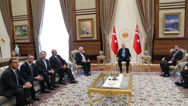 Recep Tayyip Erdoğan - TÜSİAD heyeti - Sputnik Türkiye