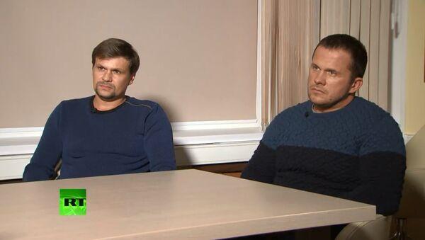 İngilizlerin Skripal vakasında suçladığı Petrov ve Boşirov - Sputnik Türkiye