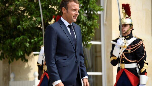 Fransa Cumhurbaşkanı Emmanuel Macron, Élysée (Elize) Sarayı'nda - Sputnik Türkiye