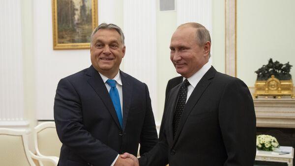 Macaristan Başbakanı Victor Orban-Rusya Devlet Başkanı Vladimir Putin - Sputnik Türkiye