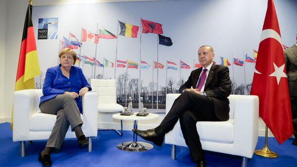 Almanya Başbakanı Angela Merkel-Cumhurbaşkanı Recep Tayyip Erdoğan - Sputnik Türkiye