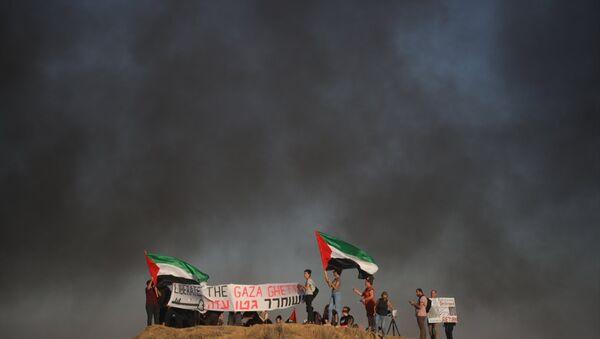 İsrailli aktivistlerden Gazze'ye destek gösterisi - Sputnik Türkiye