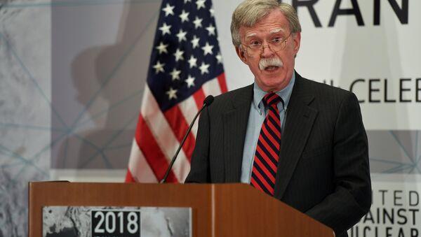 73. BM Genel Kurulu yan faaliyetleri kapsamında Nükleer İran'a Karşı Birleşmişler grubunun zirvesinde ABD Ulusal Güvenlik Danışmanı John Bolton konuştu - Sputnik Türkiye
