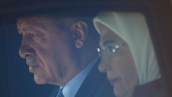 Recep Tayyip Erdoğan - Emine Erdoğan, Almanya - Sputnik Türkiye