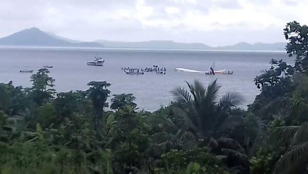 Mikronezya'da denize inen uçak - Sputnik Türkiye
