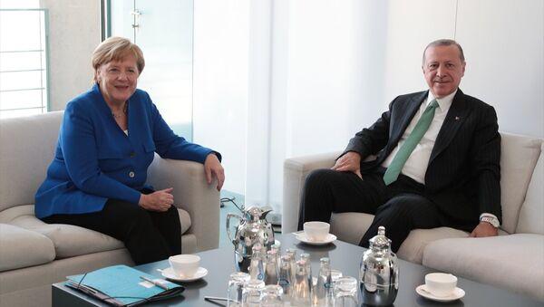Recep Tayyip Erdoğan - Angela Merkel - Sputnik Türkiye