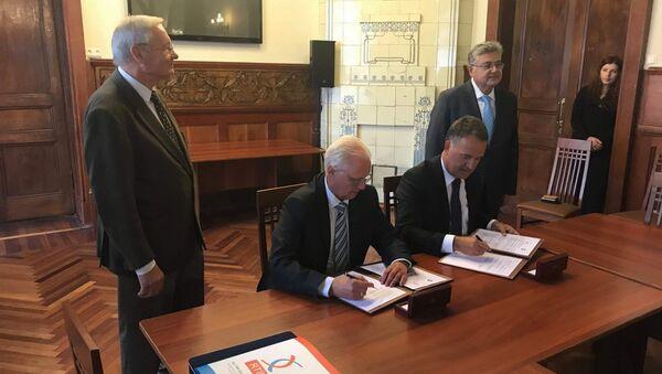 St. Petersburg Ticaret ve Sanayi Odası ile Rus-Türk İşadamları Birliği (RTİB) işbirliği anlaşmaları imzaladı. - Sputnik Türkiye