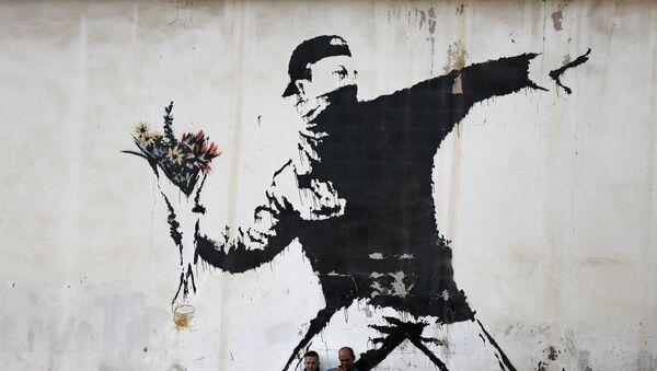 Sokak sanatçısı Banksy'nin eserleri - Sputnik Türkiye