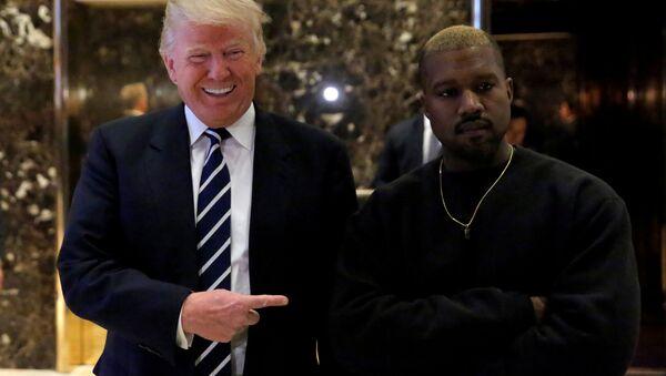 ABD Başkanı Donald Trump-ABD'li rapçi Kanye West - Sputnik Türkiye