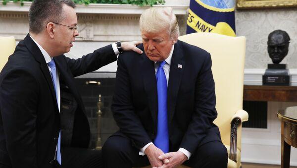 Brunson, Trump - Sputnik Türkiye