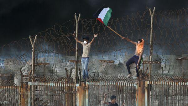 Gazze Şeridi ile İsrail arasındaki sınırı - Sputnik Türkiye