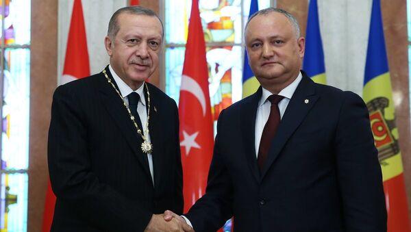 Moldova Cumhurbaşkanı Dodon- Cumhurbaşkanı Recep Tayyip Erdoğan - Sputnik Türkiye