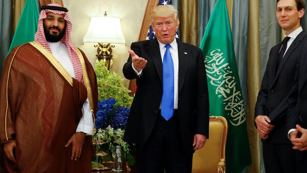 Muhammed bin Selman-Donald Trump-Jared Kushner - Sputnik Türkiye