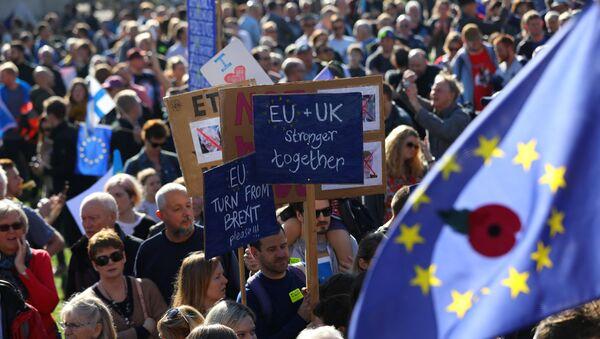 Londra'da Brexit karşıtı yürüyüşü yarım milyondan fazla kişi katıldı - Sputnik Türkiye