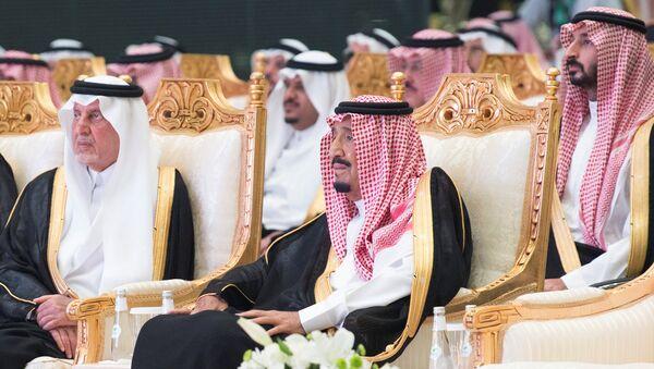 Suudi Kralı Selman ve kraliyetin önde gelenleri - Sputnik Türkiye