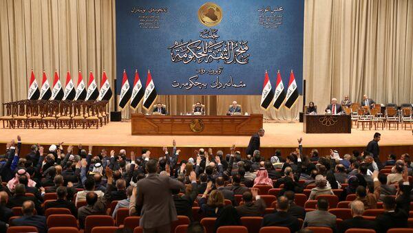 Irak Parlamentosu'nda kabine oylaması - Sputnik Türkiye