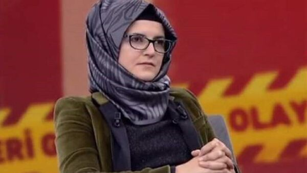 Cemal Kaşıkçı'nın nişanlısı Hatice Cengiz - Sputnik Türkiye