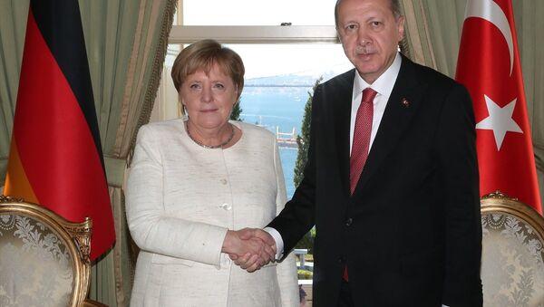 Erdoğan - Merkel - Sputnik Türkiye