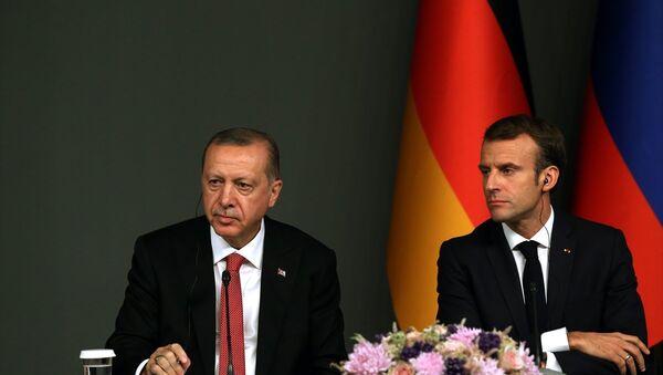 Recep Tayyip Erdoğan - Emmanuel Macron - Sputnik Türkiye