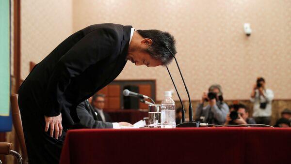 Japon gazeteci Jumpei Yasuda, Tokyo'da düzenlediği basın toplantısında özür diledi. - Sputnik Türkiye