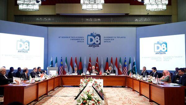 Çavuşoğlu'nun evsahipliğinde Antalya Belek'teki D-8 toplantısı - Sputnik Türkiye