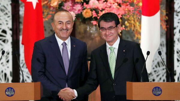 Japonya Dışişleri Bakanı Taro Kono- Dışişleri Bakanı Mevlüt Çavuşoğlu - Sputnik Türkiye