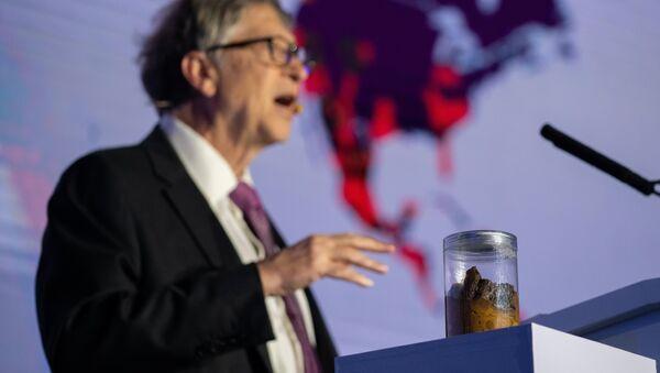 Bill Gates, sahneye dışkıyla çıktı - Sputnik Türkiye