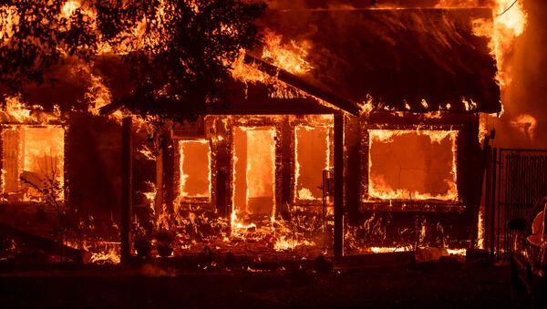 Kaliforniya'nın Paradise kasabası yangına teslim - Sputnik Türkiye