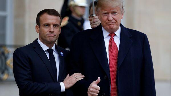 Donald Trump - Emmanuel Macron - Sputnik Türkiye