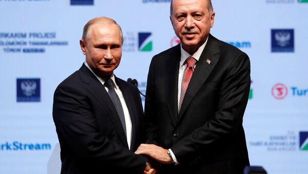Rusya lideri Vladimir Putin- Cumhurbaşkanı Recep Tayyip Erdoğan - Sputnik Türkiye