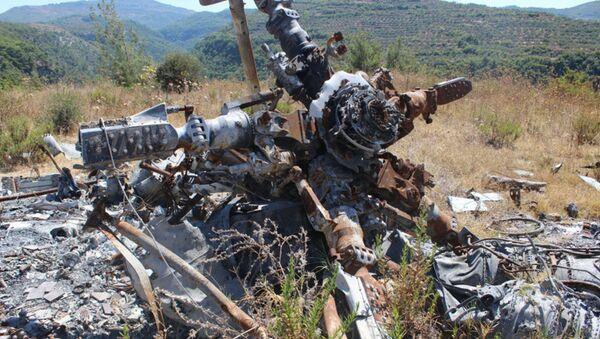 Su-24 uçağının pilotu Peşkov'un oldürüldüğü yerden fotoğraflar - Sputnik Türkiye