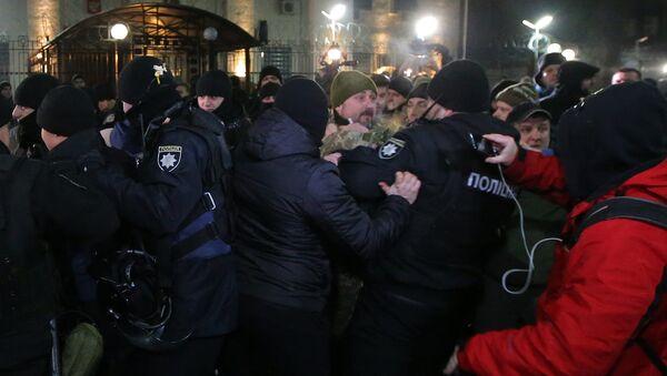 Ukraynalı radikallerin fişekli saldırı gerçekleştirdiği Rusya Kiev Büyükelçiliği - Sputnik Türkiye