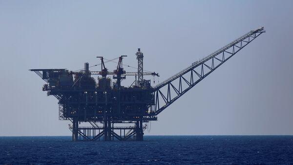 İsrail'in Akdeniz'deki doğalgaz platformu - Sputnik Türkiye